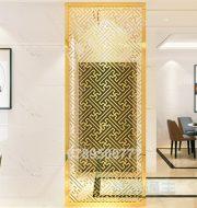 Vách ngăn phòng khách đẹp inox sus 304 mạ vàng Titan